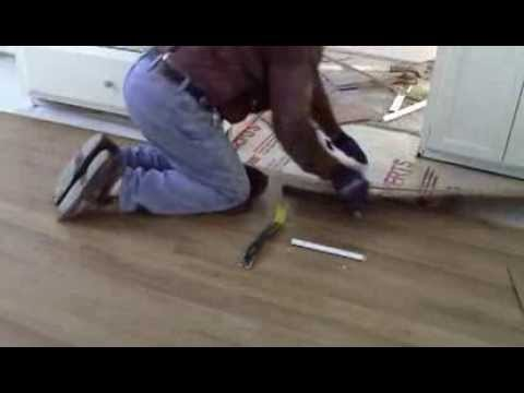 DIY Removing Laminate Flooring To Find A Water Leak Under A House