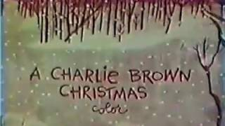 Charlie Brown Christmas 1965 Commercial