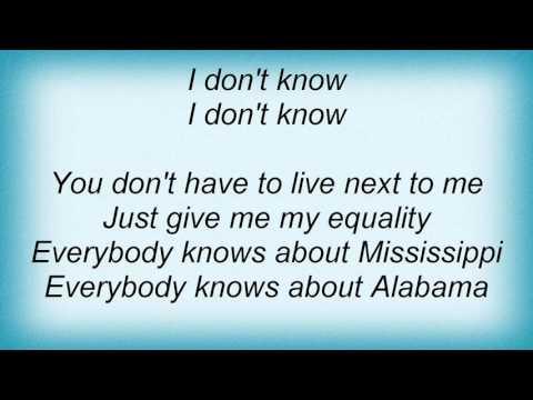 15574 Nina Simone - Mississippi Goddam Lyrics