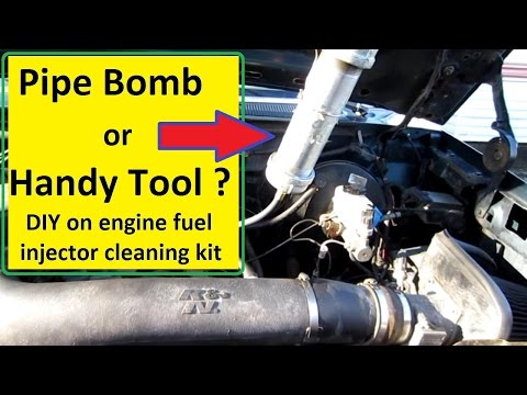 On car Fuel Injector Cleaning