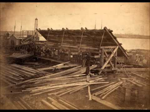 Building Supply Barges During the Civil War in Alexandria, Virginia (1860's)