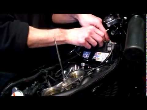 harley  rod battery remove  replace pt avi youtube