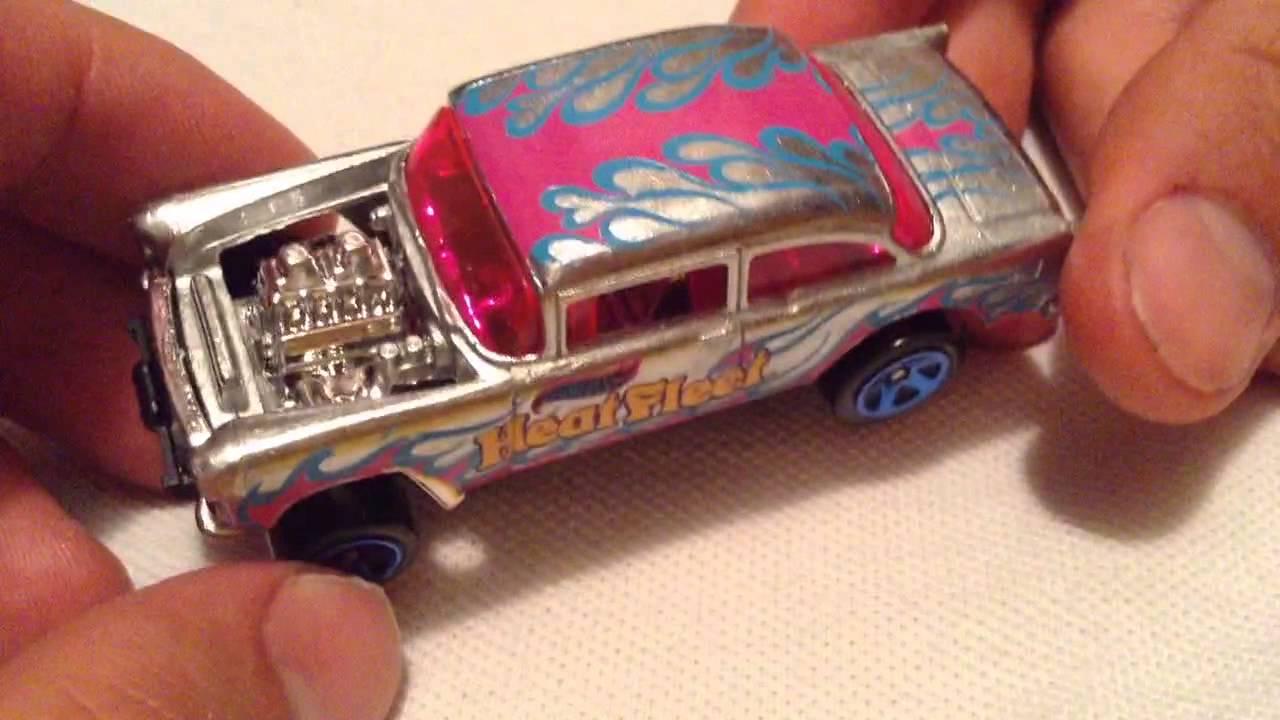 Hot Wheels '55 Chevy Bel Air Gasser (2015 Walmart Exclusive Zamac #15)