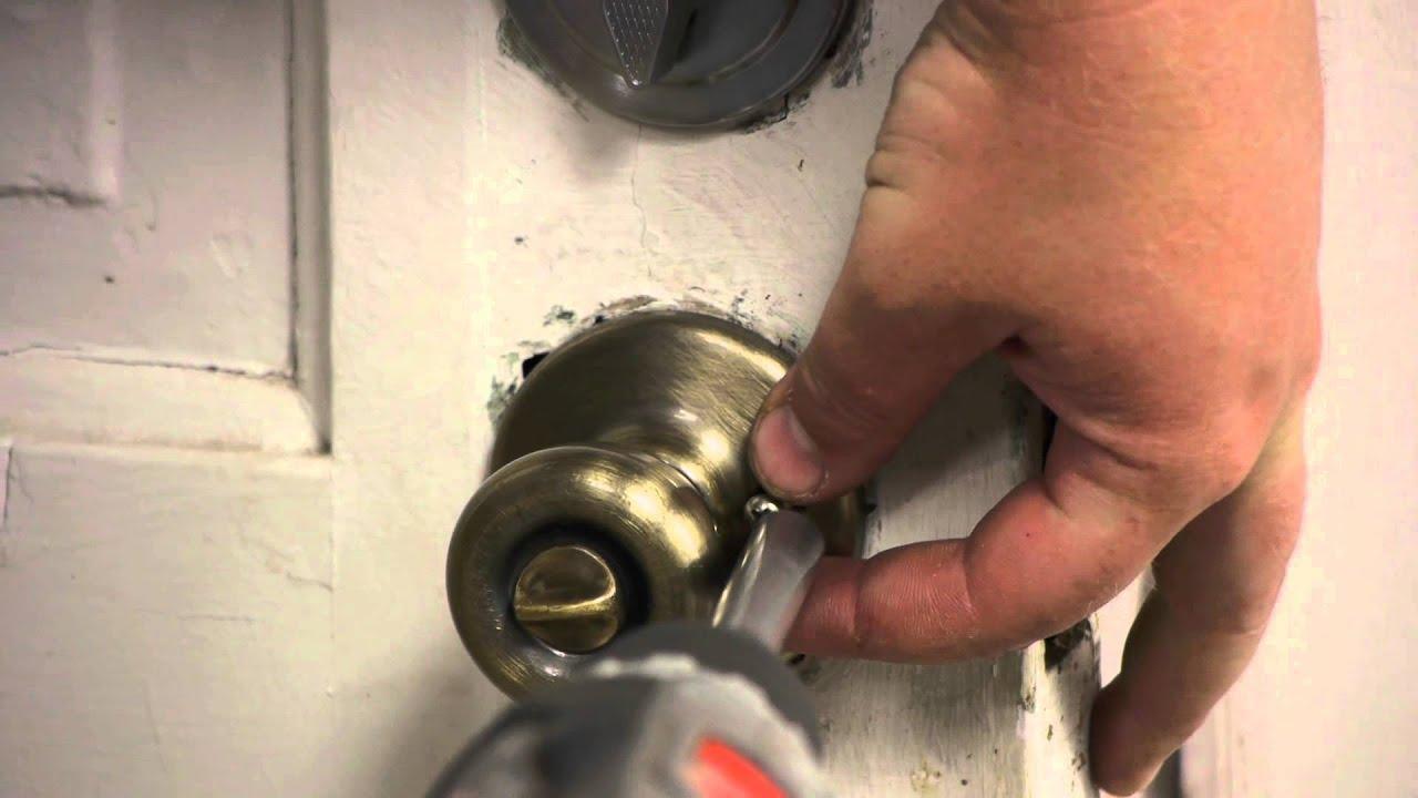 How to Replace an Exterior Door Knob Without Rekeying : Door ...