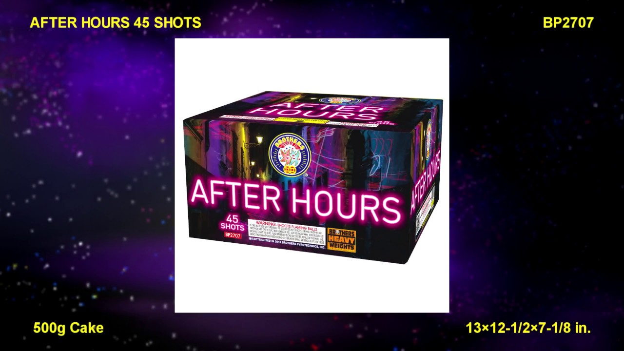 Brothers Pyrotechnics After Hours 45 Shots    Red Apple Fireworks