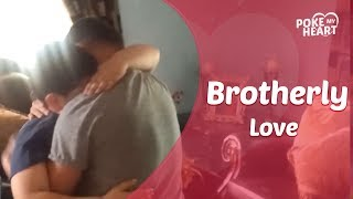 Marine Surprises Little Brother