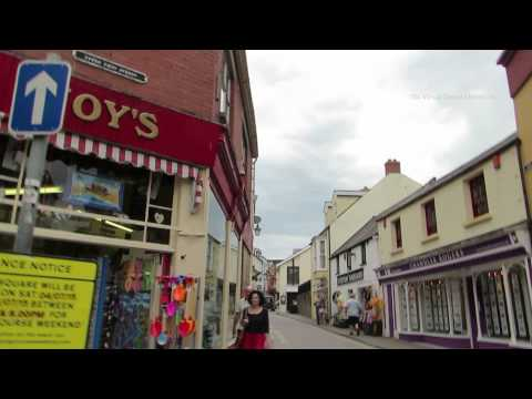 Tenby Town Centre in Pembrokeshire Wales 01