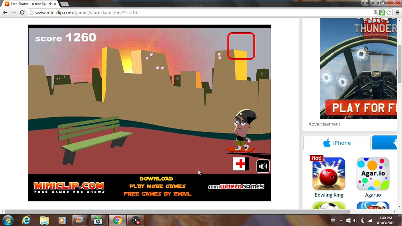 Lets play: stan skates (miniclip) youtube.