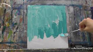 絵画 「油絵の早描き」