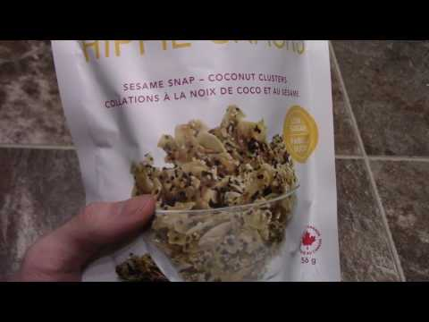 Review Hippie Foods Hippie Snacks Sesame Snap Coconut clusters