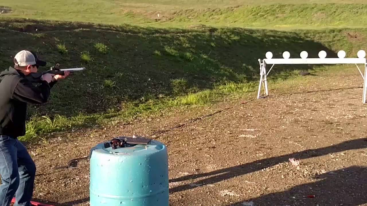 How fast can you shoot a plate rack? & How fast can you shoot a plate rack? - YouTube