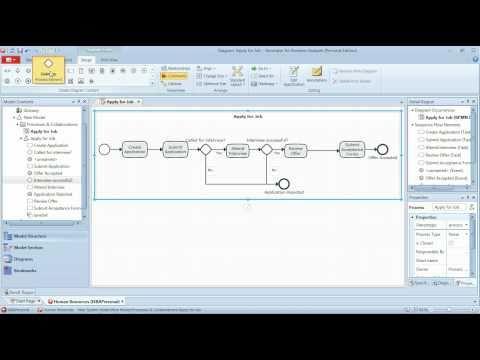 BPMN Tutorial - Part 1 - Simple BPMN Workflow (Business Process Modeling)