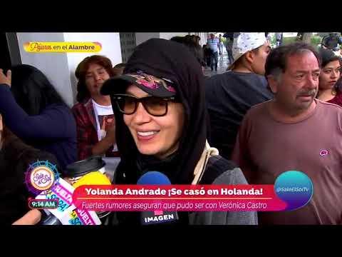 ¿Yolanda Andrade se casó con Verónica Castro?  Sale el Sol