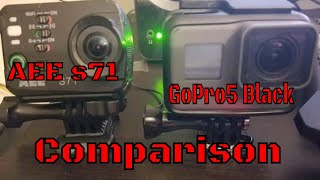 GoPro 5 Black And AEE S71 Comparison