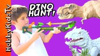Zing Dino Hunterz Crossbow! T-Rex Minion, Transformers Imanginext Fun HobbyKidsTV