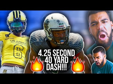 FASTEST High School Football Player!!! *FOOTBALL FAST*- Isaac Taylor Stuart Highlights [Reaction]