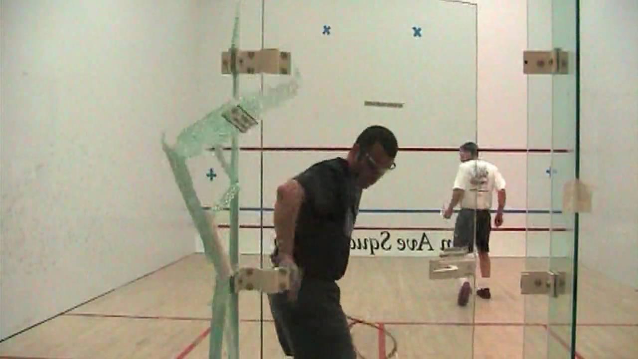 squash broken glass funny video - YouTube
