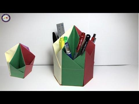 How to Make Paper Pencil Holder - Pen Holder Easy - DIY