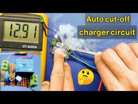 ابسط دائرة فصل شحن The simplest charge auto cut off circuit