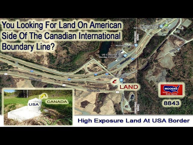 Maine Land For Sale On The USA - Canadian International Border | MOOERS REALTY# 8843
