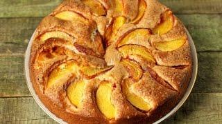 Простой рецепт пирога с персиками