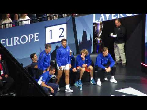 Laver Cup Team Europe's reactions during Federer vs Kyrgios (5)