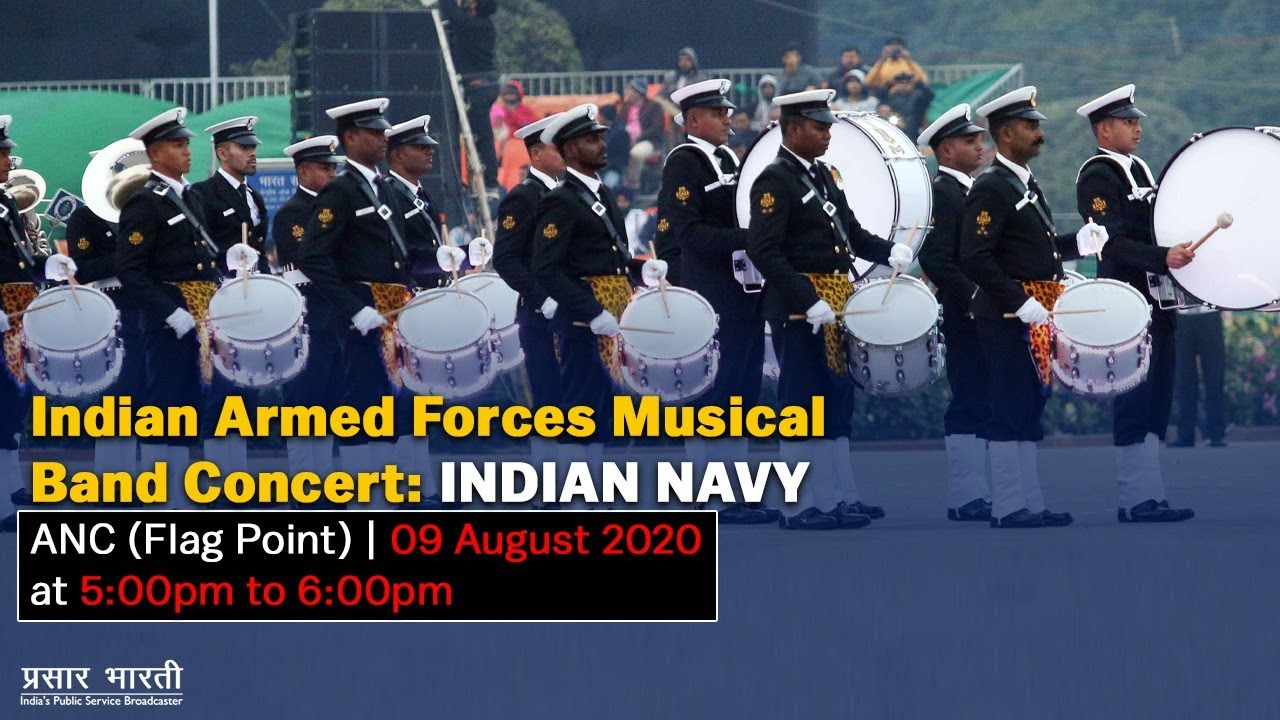 Indian Armed Forces Musical Band Concert - Indian Navy : ANC Flag Point