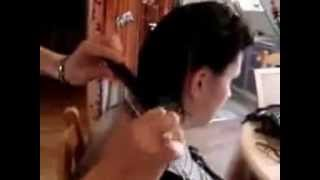 how to cut hair short square degrade