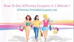 How To Get JCPenney Coupons in 1 Minute !