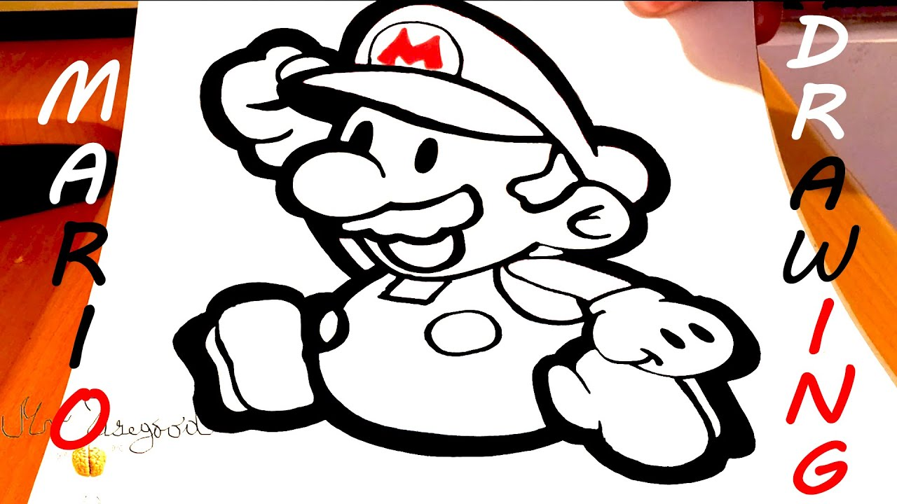 It's just a graphic of Exceptional Easy Mario Drawing