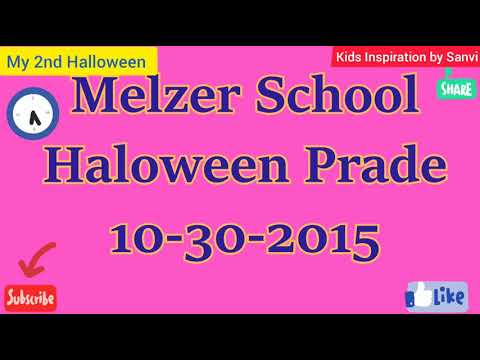 My 2nd Halloween party at Melzer School...