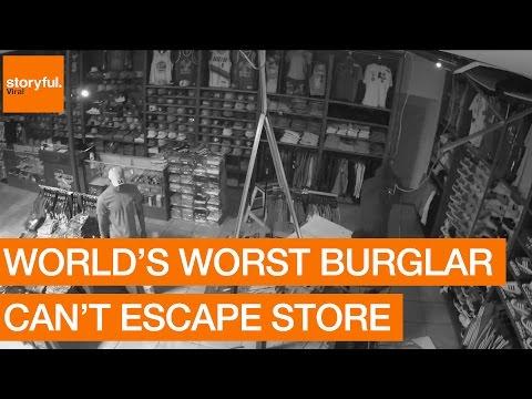 World's Worst Burglar Can't Escape Store