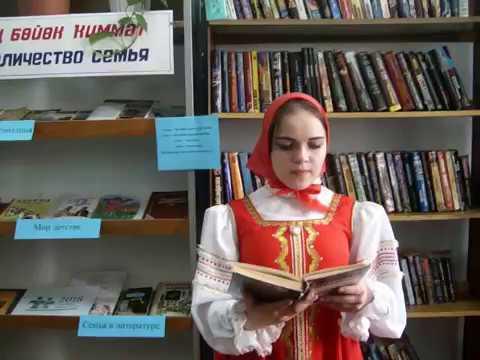 Изображение предпросмотра прочтения – ОльгаКарпова читает отрывок изпроизведения «Матренин двор» А.И.Солженицына