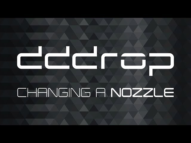 Changing nozzle on the dddrop 3D printer