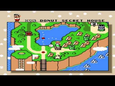 Gameplay Super Mario World - Donut Secret House BOSS and Exit Secret