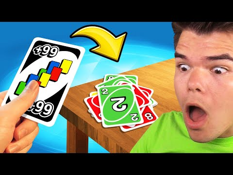CHEATING UNO With A +99 CARD! (Insane)