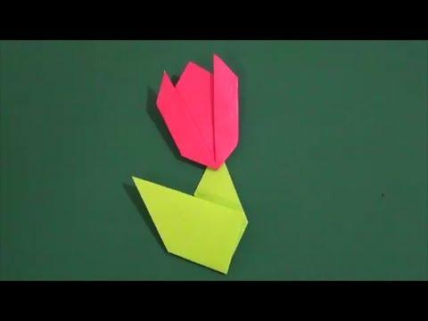 クリスマス 折り紙 : チューリップ 折り紙 : youtube.com