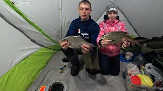 Зимняя Рыбалка С Двумя Ночёвками В Палатке В Тепле И Комфорте Рыбалка с женой 2020
