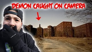 DEMON CAUGHT ON CAMERA in THE HAUNTED KINGS PARK INSANE ASYLUM