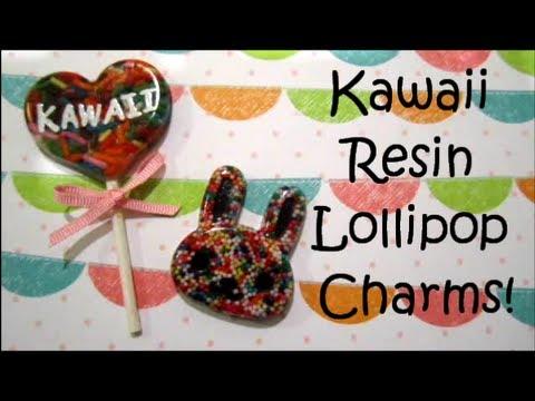 How To Make Kawaii Resin Lollipop Charms!
