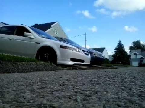 Slammed Acura TL On Coilovers YouTube - Acura tl bc coilovers