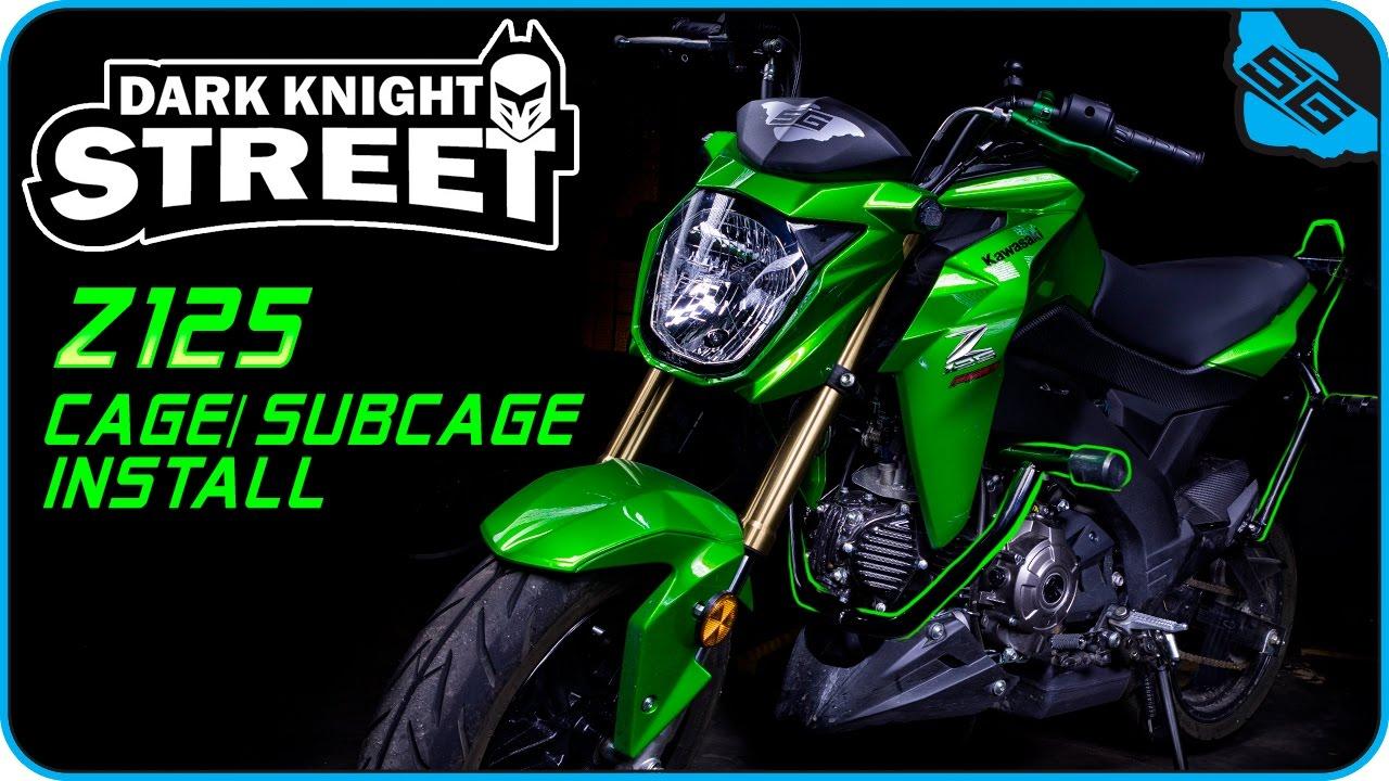 Dark Knight Street Kawasaki Z125 Pro Cage + Subcage install