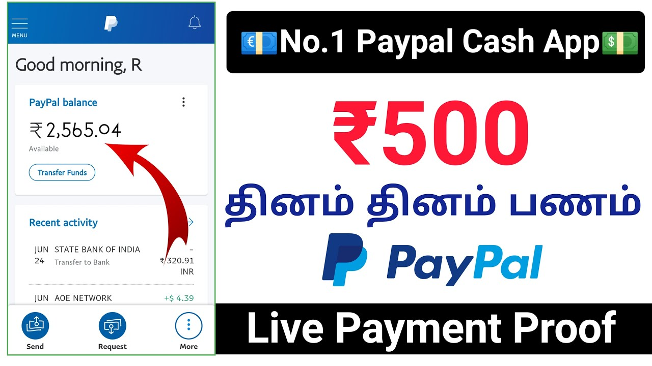 New Paypal cash Earning app | Paypal cash Earning app 2020 Tamil