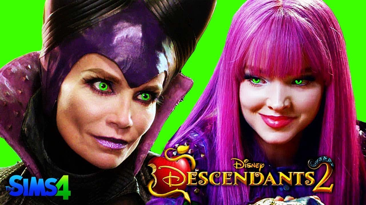 Descendants 2 Sims 4 Mal And Maleficent Fight At Auradon Prep Disney S Descendants