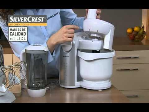 Procesador de alimentos lidl espa a youtube for Robot de cocina silvercrest