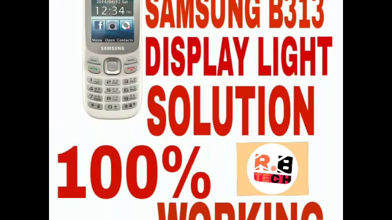 samsung b313e lcd light solition - YouTube