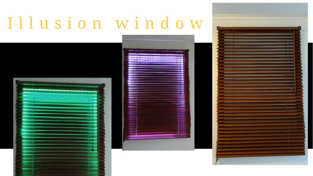 How To Create An Illusion Window With Led And Blinds Diy