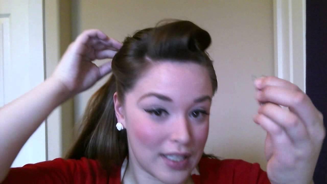 rosie the riveter pinup hair tutorial