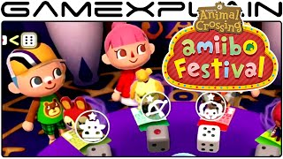 Animal Crossing: amiibo Festival - 8 Minigames Gameplay