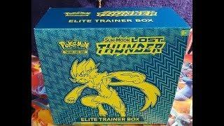 LOST THUNDER!! Elite Trainer Box! FULL ART PULLED